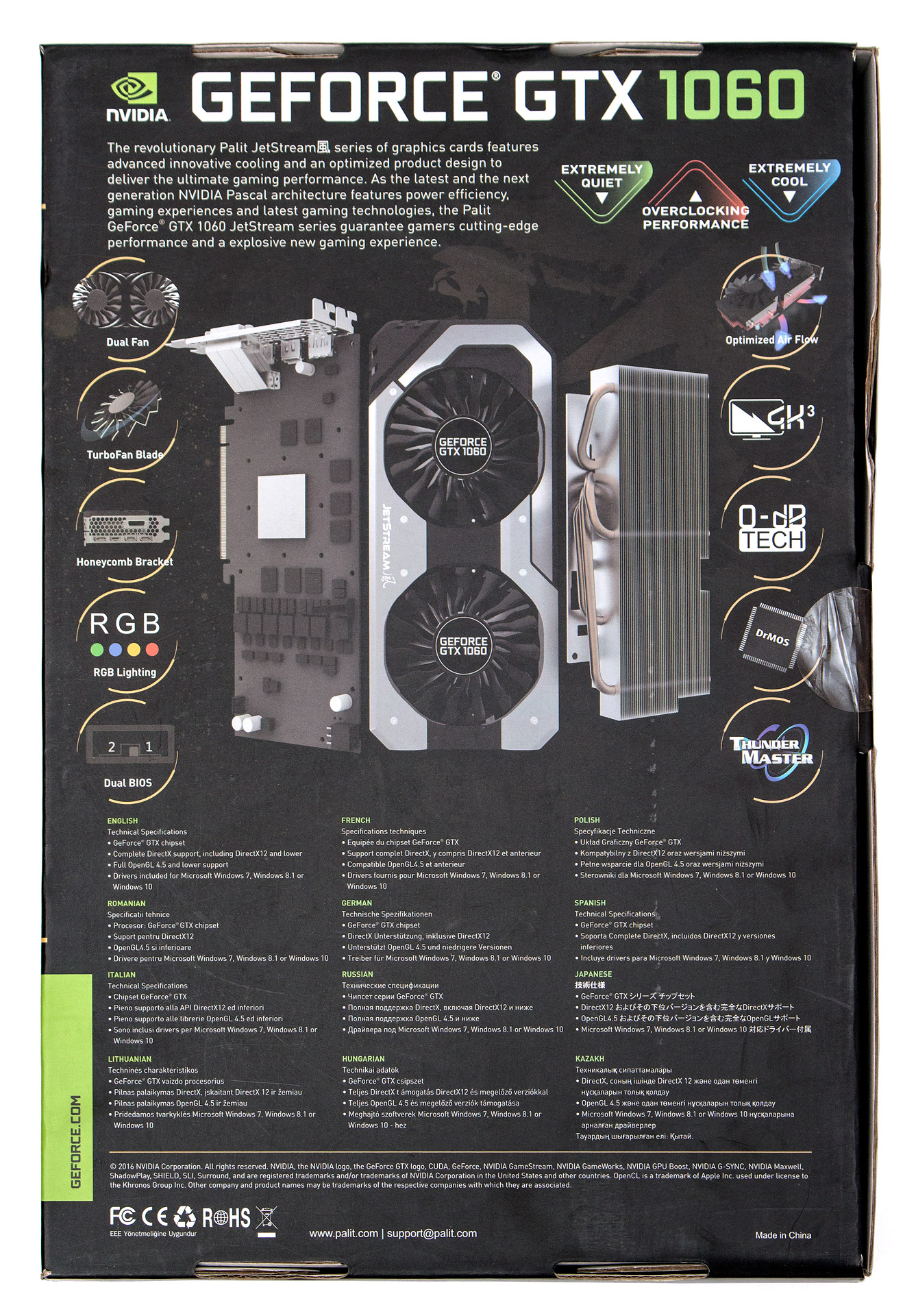 Palit geforce gtx 1060 map overview